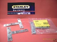 "STANLEY Zinc Plated 4"" mending T plates. Pack 2. 30-1724"